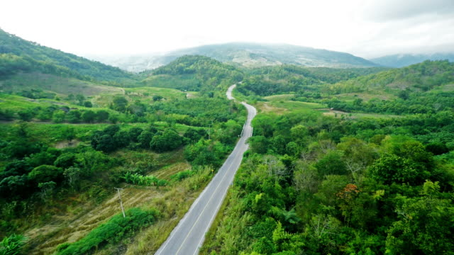 aerial view of road on the mountain - mountain pass stock videos & royalty-free footage