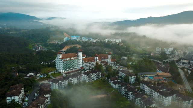 aerial view of road trip in forest to cameron highland, brinchang, malaysia - malaysian culture stock videos and b-roll footage