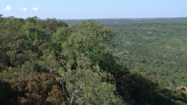 Aerial view of rock face in Waterberg Biosphere
