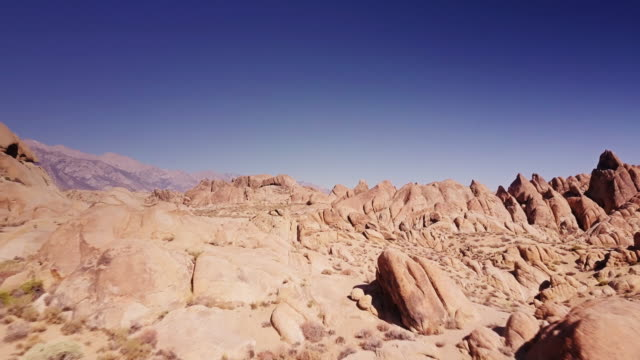 aerial view of rock formations at whitney portal - rock stock videos & royalty-free footage