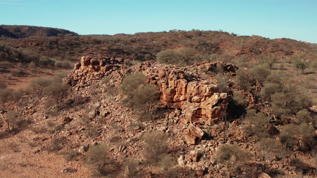 aerial view of rock formations in the simpson desert - australia stock videos & royalty-free footage