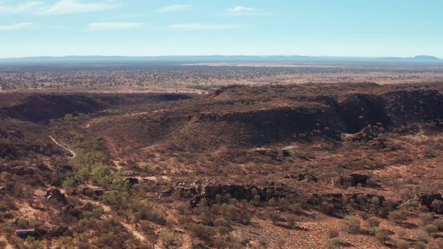 aerial view of rock formations in the simpson desert - heat stock videos & royalty-free footage