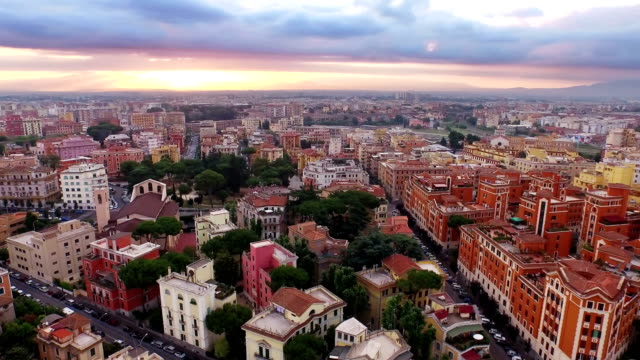 Aerial View of Rome at morning