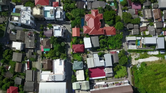 aerial view of rooftop in the residential area - cape town stock videos & royalty-free footage