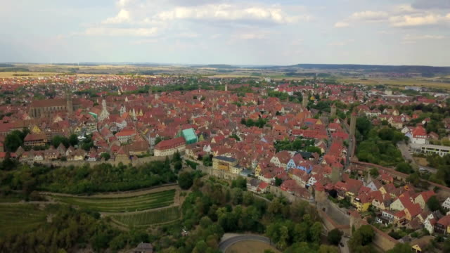 Aerial view of Rothenburg - Germany