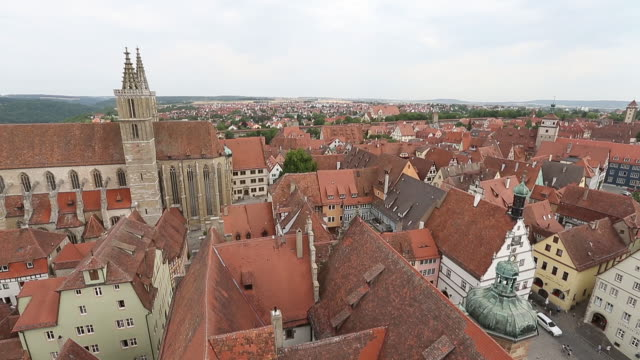 aerial view of rothenburg - rothenburg stock videos and b-roll footage