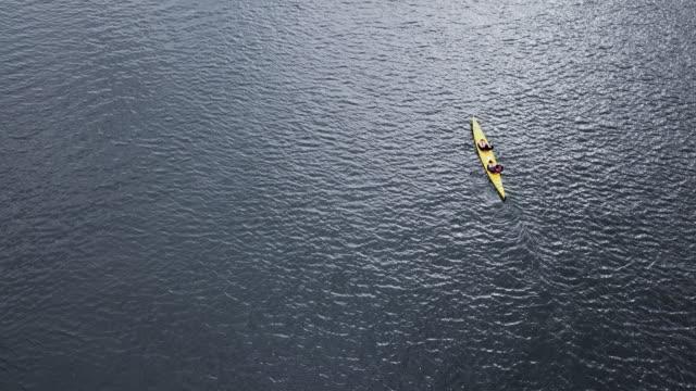 aerial view of rowing boats - åra bildbanksvideor och videomaterial från bakom kulisserna