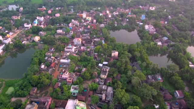 aerial view of rural bengal india - population explosion stock videos & royalty-free footage