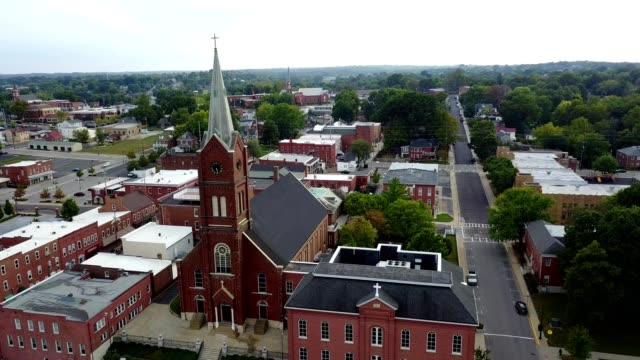 Aerial view of Saint Francis Borgia Church