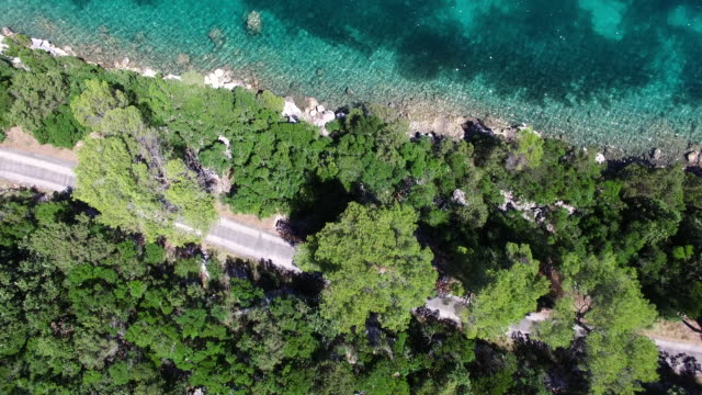 Aerial view of Saint Mary Island, Mljet National Park, Croatia