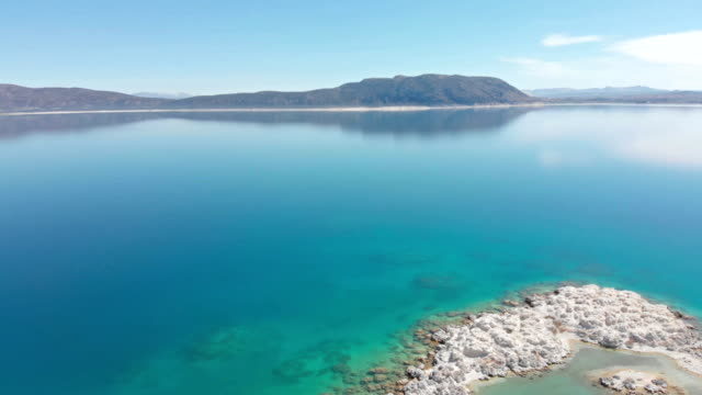 Aerial view of Salda Lake in Burdur, Turkey
