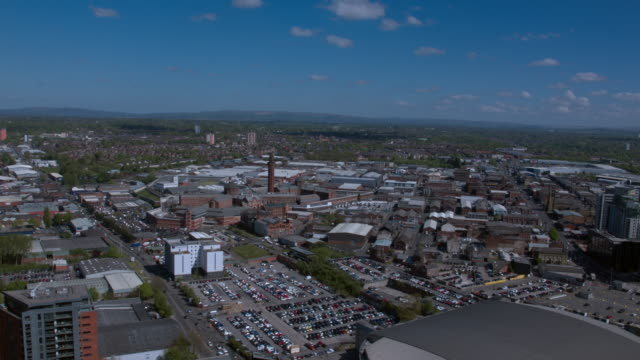 aerial view of salford - salford quays stock videos & royalty-free footage