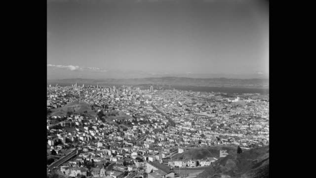 aerial view of san francisco cityscape, california, usa - san francisco stock-videos und b-roll-filmmaterial