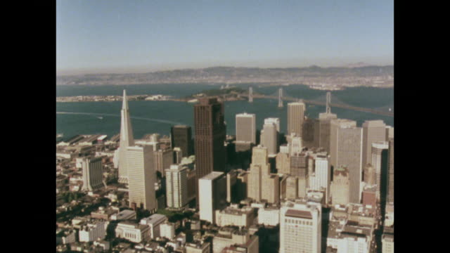 aerial view of san francisco financial district; 1979 - 1970 1979 stock videos & royalty-free footage