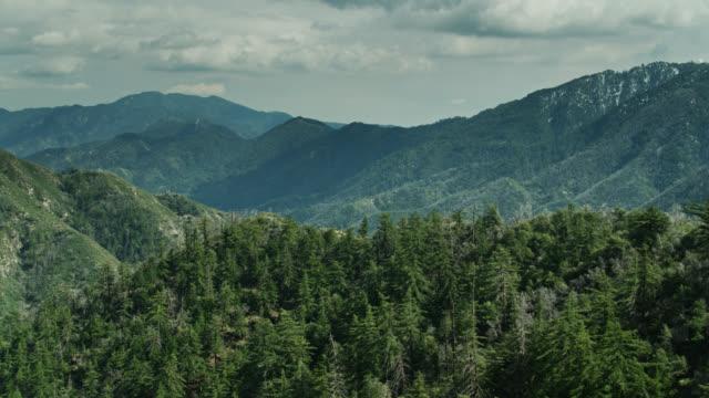ウィルソン山を含むサンガブリエル山脈の空中写真 - エンジェルス国有林点の映像素材/bロール