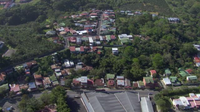 aerial view of san jose cityscape, costa rica - san jose costa rica stock videos & royalty-free footage