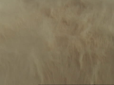 aerial view of sand blowing in sandstorm, oman - dust storm stock videos & royalty-free footage