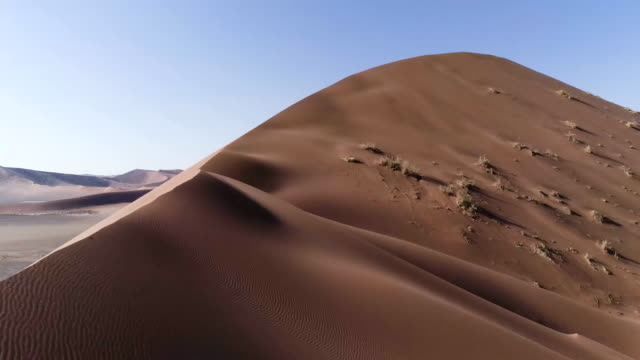 aerial view of sand dune - sand dune stock videos and b-roll footage