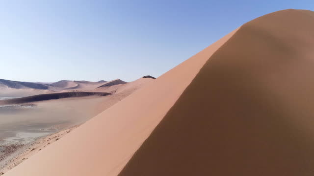 aerial view of sand dune - dry stock videos & royalty-free footage