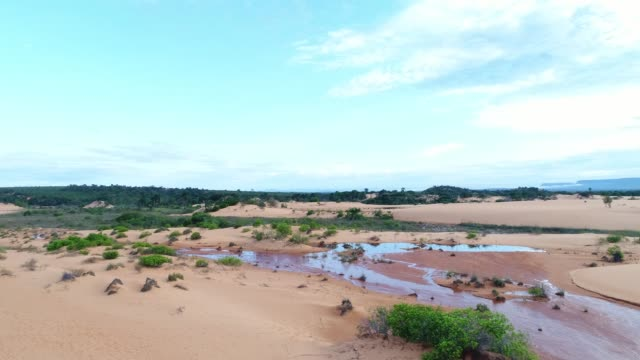 aerial view of sand dunes in jalapão, tocantins, brazil - jalapao state park stock videos and b-roll footage