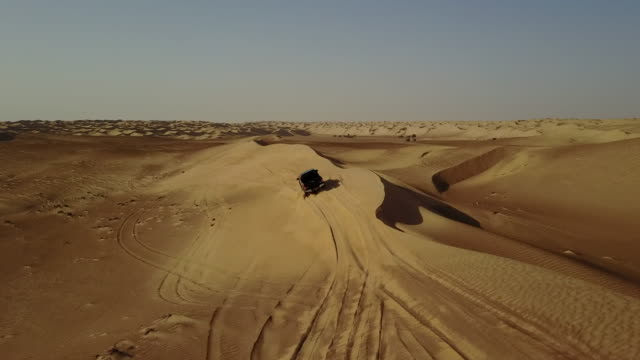 aerial view of sand dunes - pick up truck stock videos and b-roll footage