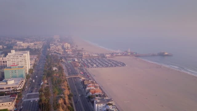 Aerial View of Santa Monica, California