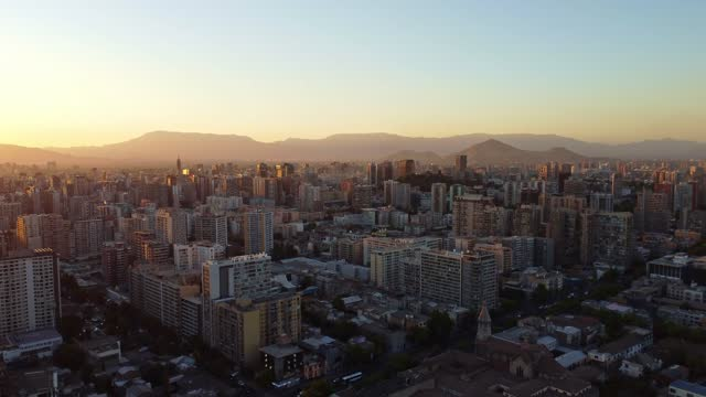 aerial view of santiago de chile - high street stock videos & royalty-free footage