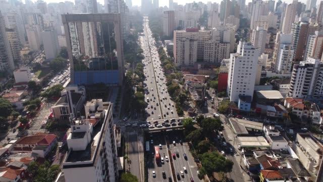 vídeos de stock, filmes e b-roll de vista aérea de são paulo, brasil - distrito financeiro