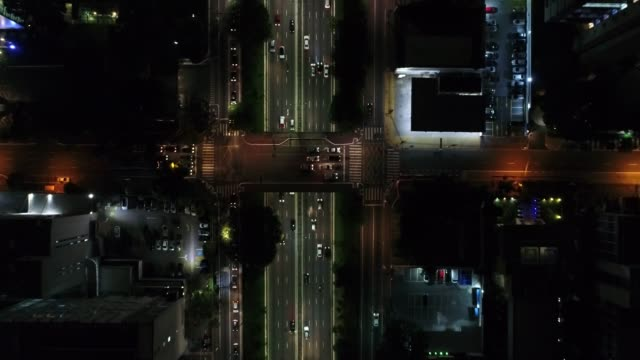 aerial view of sao paulo city, brazil at night - são paulo state stock videos & royalty-free footage