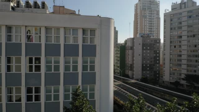 vídeos y material grabado en eventos de stock de vista aérea del centro de sao paulo, brasil - fachada arquitectónica