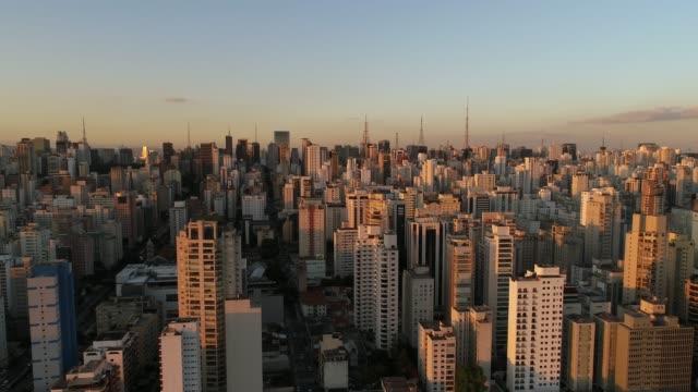 aerial view of sao paulo - avenida paulista stock videos & royalty-free footage