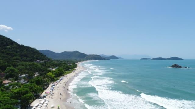 サンパウロ、ブラジルのサンパウロ セバスティアーノ浜の航空写真