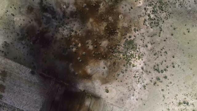 veduta aerea della savana - clima arido video stock e b–roll