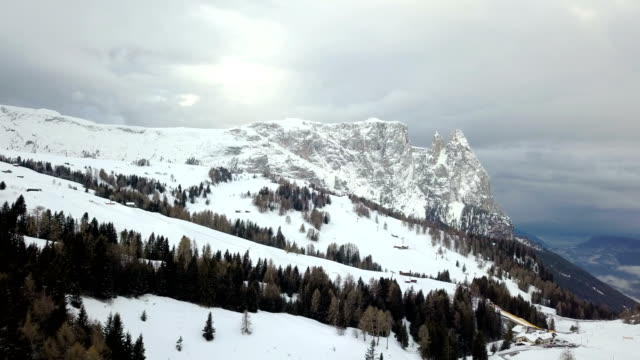 aerial view of sciliar mountains and seiser alm - scilia stock videos & royalty-free footage