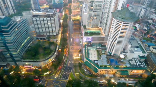 Luftbild von Scotts Road und Orchard Road in Singapur
