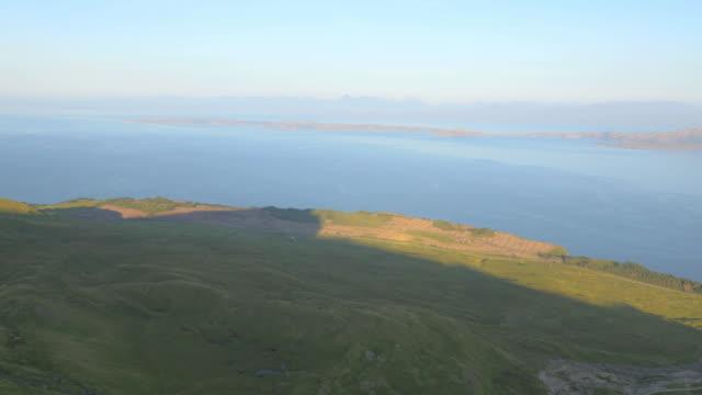 aerial view of scottish loch isle of skye - hebriderna bildbanksvideor och videomaterial från bakom kulisserna