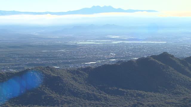 スコッツデール、テンペ迷信山、アリゾナ州、米国と周辺地域の空中写真 - arizona点の映像素材/bロール