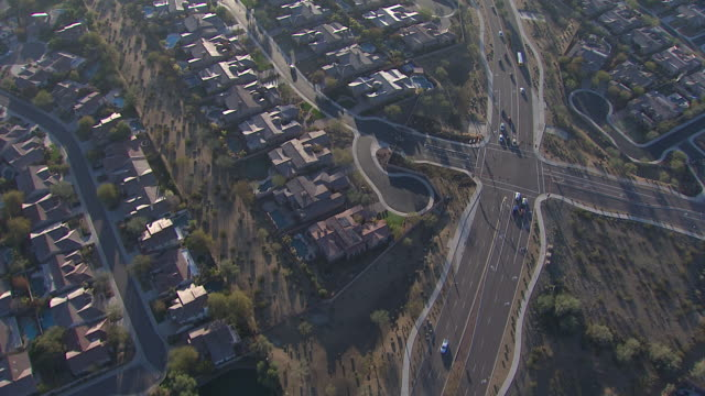 aerial view of scottsdale, tempe, mesa area, arizona, usa - mesa stock videos and b-roll footage