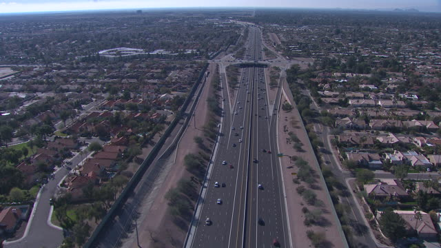 aerial view of scottsdale, tempe, mesa area, arizona, usa - arizona stock videos & royalty-free footage