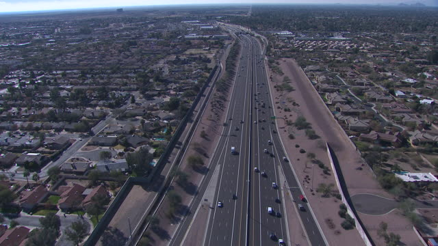 Aerial view of Scottsdale, Tempe, Mesa area, Arizona, USA
