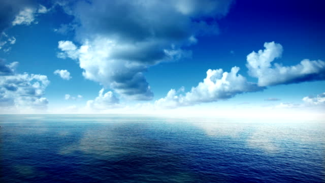 aerial view of sea and clouds - seascape stock videos & royalty-free footage