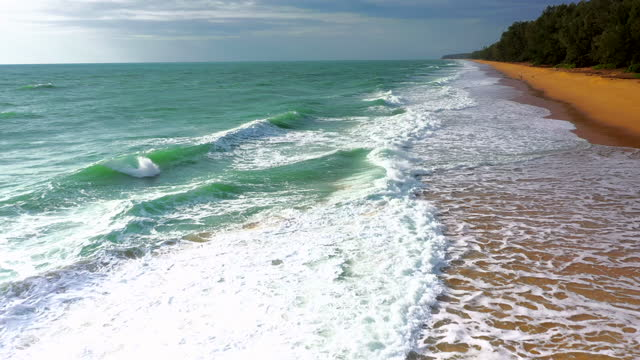 aerial view of sea and waves - tide stock videos & royalty-free footage