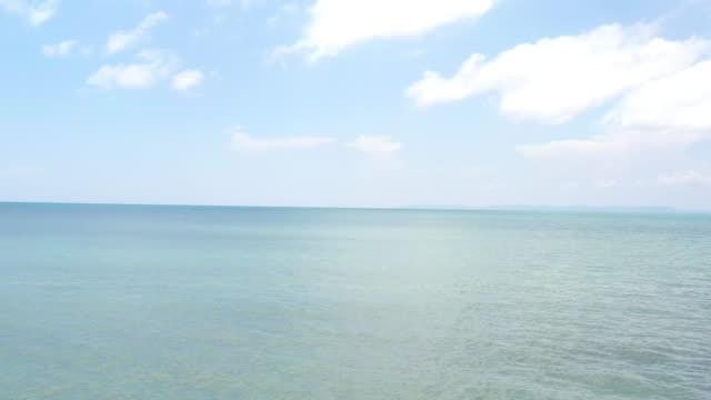 aerial view of sea horizon - eternità video stock e b–roll