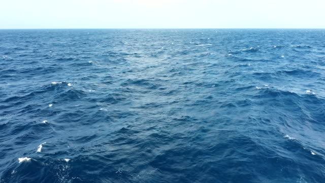 aerial view of sea surface - water surface stock videos & royalty-free footage