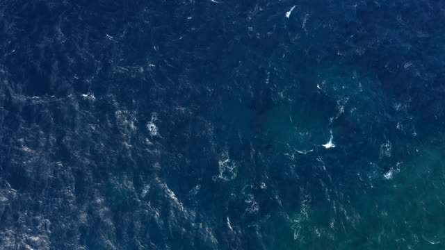 aerial view of sea surface - atlantic ocean stock videos & royalty-free footage