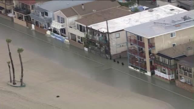 KTLA Aerial View of Seal Beach Flooding