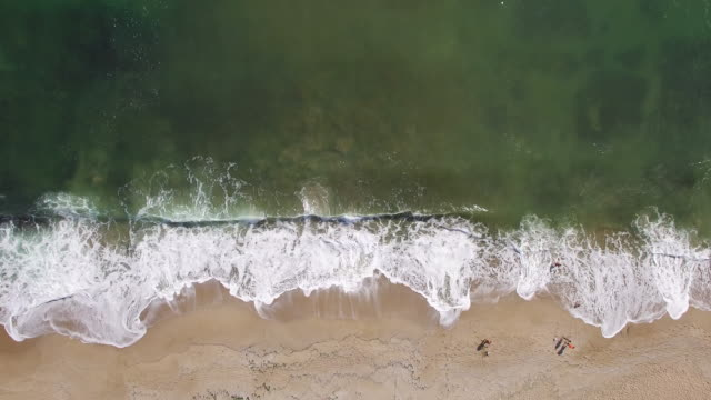 4K Aerial view of seaside