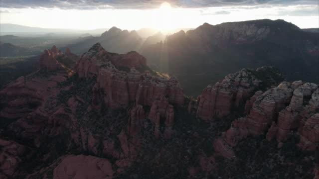 aerial view of sedona arizona - sedona stock videos & royalty-free footage