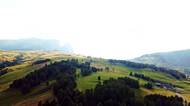 aerial view of seiser alm in the south tyrol - siusi stock videos & royalty-free footage