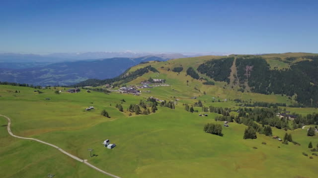 aerial view of seiser alm (compatsch) - scilia stock videos & royalty-free footage